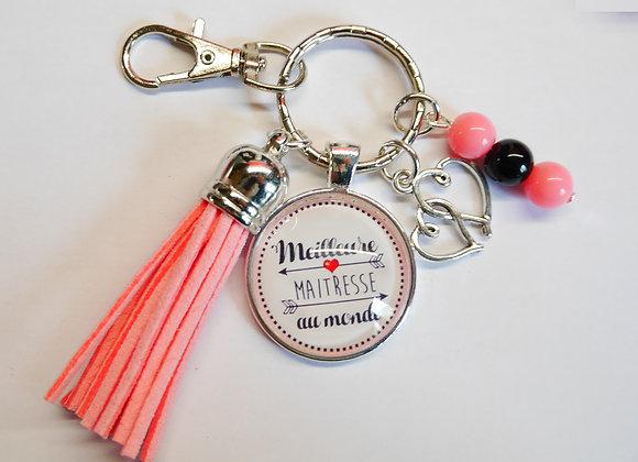 Porte clé rose, cadeau maitresse