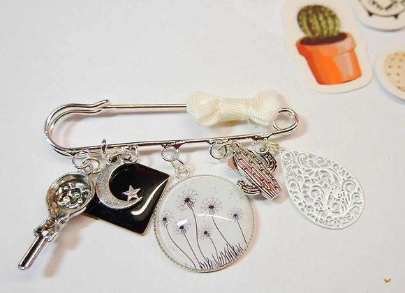 broche argent, idee cadeau de noel, bijoux d'echarge, bijoux de chale, la compagnie des bidules