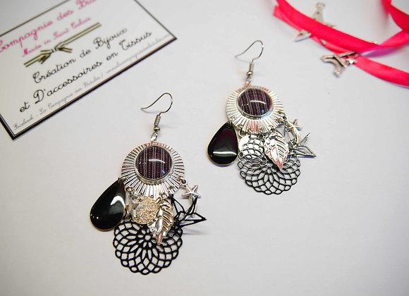 bracelet, bijoux tendance, cabochon, idee cadeau, st calais, sarthe, la compagnie des bidules, noir et blanc