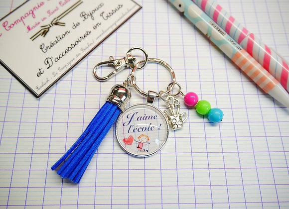 Porte clé maîtresse j'aime l'école