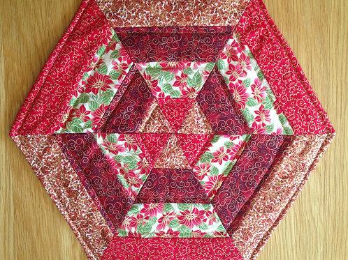 Hexagonal Christmas Mats