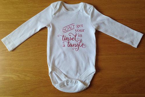 Hand Printed Christmas Baby Vests