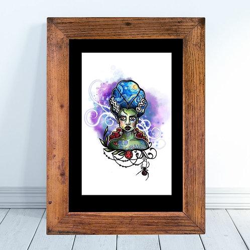 Bride of Frankenstein-Starry Night Print