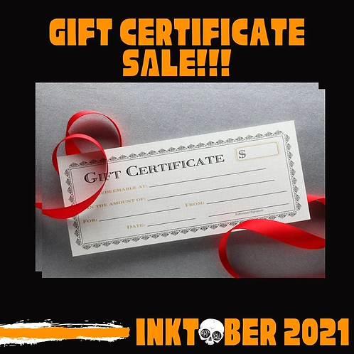 One Hour Tattoo Gift Certificate