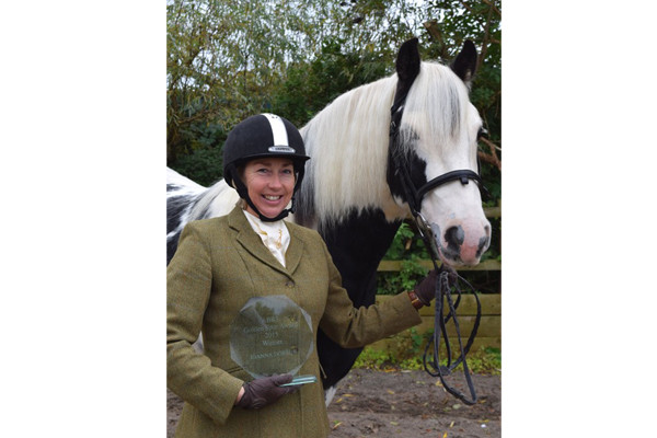 Joanna Dobson of Midgeland Riding School awarded Golden Spur by ABRS