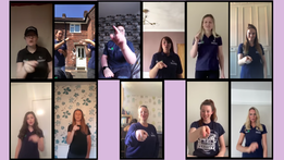 "Pegasus ""reach for the stars"" with Makaton!"
