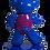 Thumbnail: Ours bleu à Marinière  45cm Co. N°4