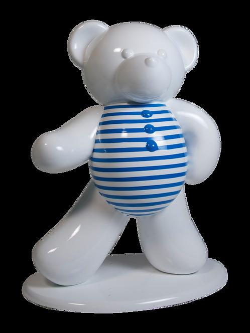 Ours blanc à Marinière  45cm Co. N°4
