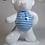 Thumbnail: Ours blanc à Marinière  45cm Co. N°4