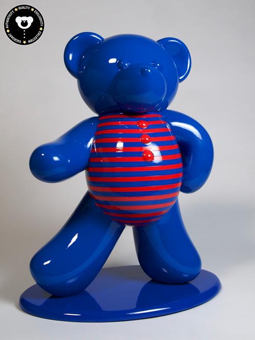 Ours bleu à Marinière  45cm Co. N°4