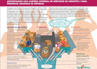 Cartera integral de servicios de hepatitis C para personas que se inyectan drogas