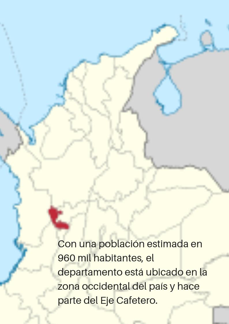 Ubicación de Risaralda en el país