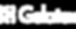 Gelatex logo transparent, white text for