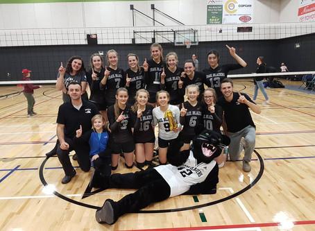Senior girls volleyball wins bronze in provincials