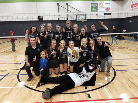 Senior girls volleyball wins bronze in provincials