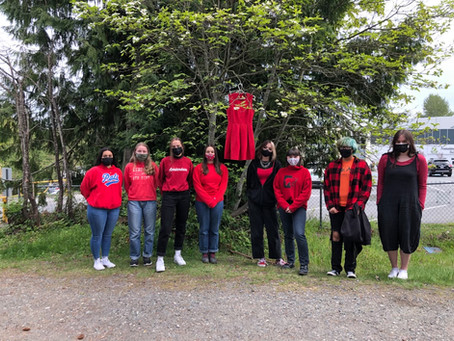High school students reflect on MMIWG Red Dress Day