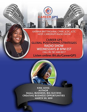 Kira Ming's radio interview with Career GPS Global Positioning Strategies