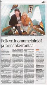 Kalevan juttu Oululaisesta folkmusiikista