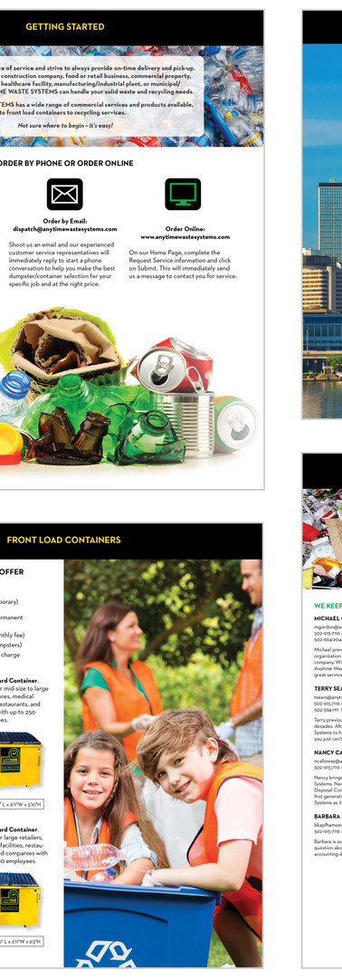 Anytime Waste Systems Sales Collateral