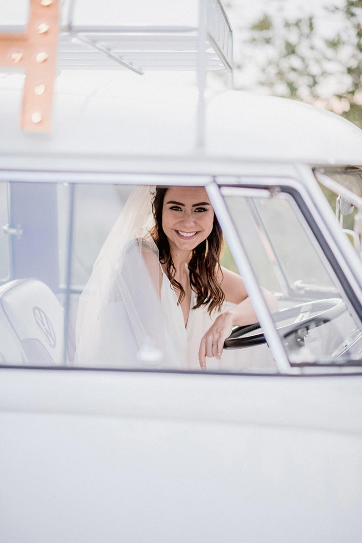 bride in bus