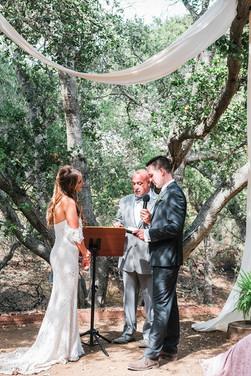 wedding ceremony tiber canyon ranch