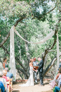 wedding ceremony tiber canyon ranch