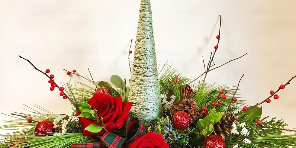 Wine & Floral Design: Festive Arrangement