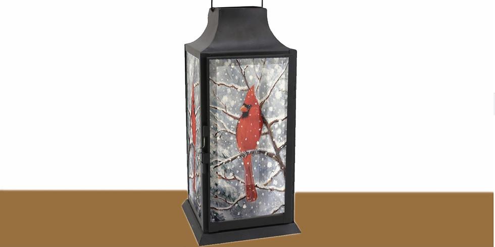 Paint & Sip: Winter Cardinal Lantern