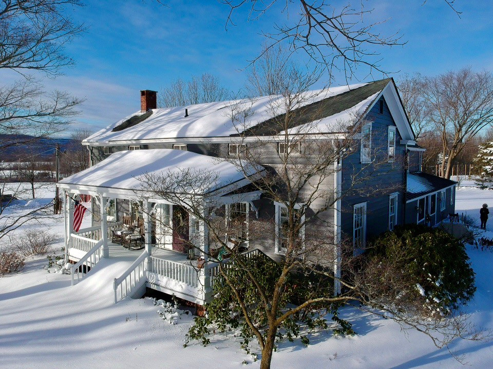 Watergrasshill Bed & Breakfast after a snowstorm