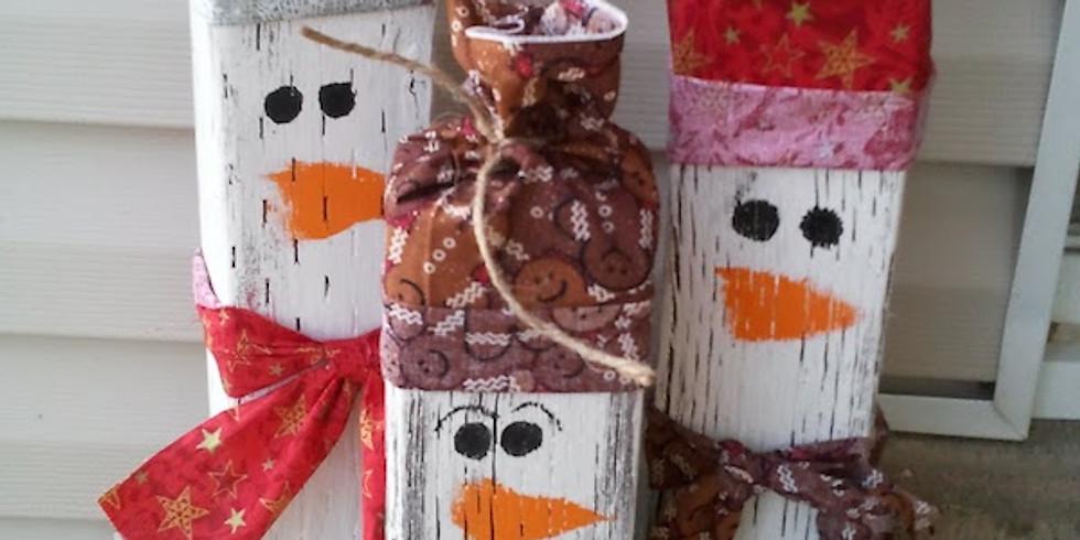 Craft Night: Log Snowmen