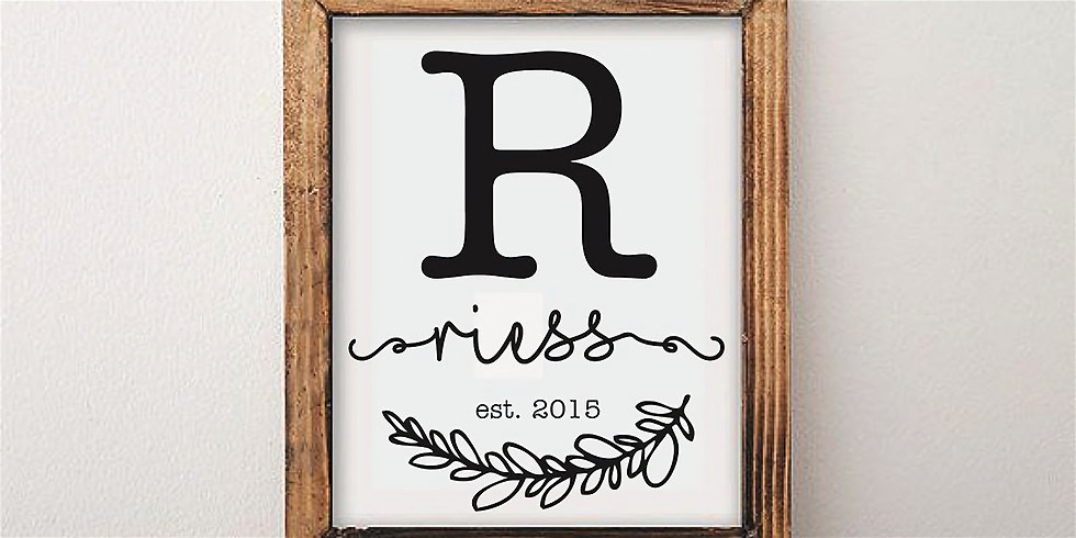 Craft Night: Rustic Chic Personalized Sign