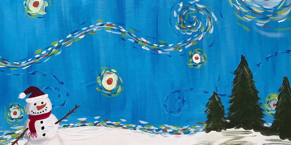 Paint & Sip: Snowman Starry Night