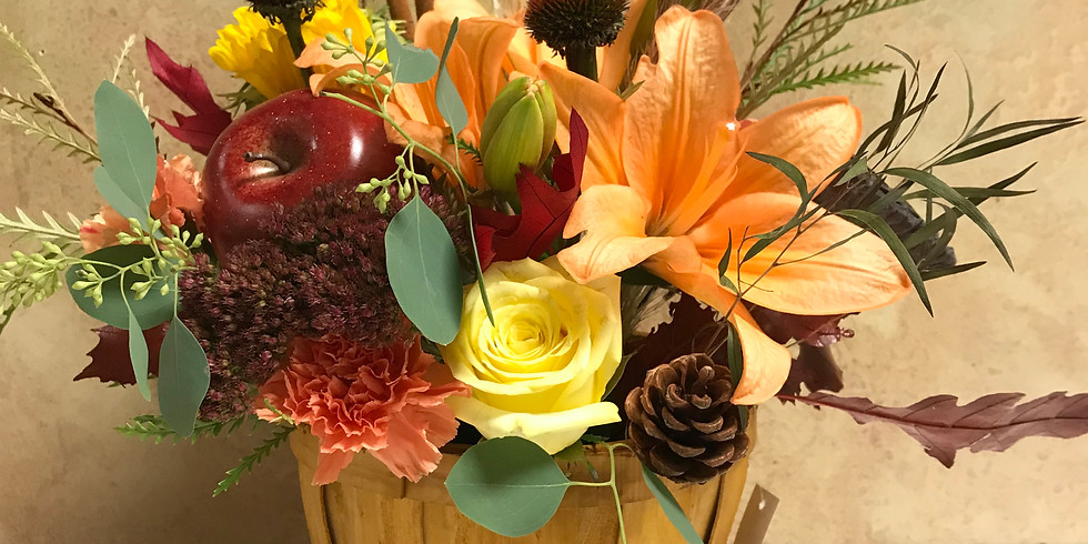 Wine & Floral Design: Fall Floral Arrangement