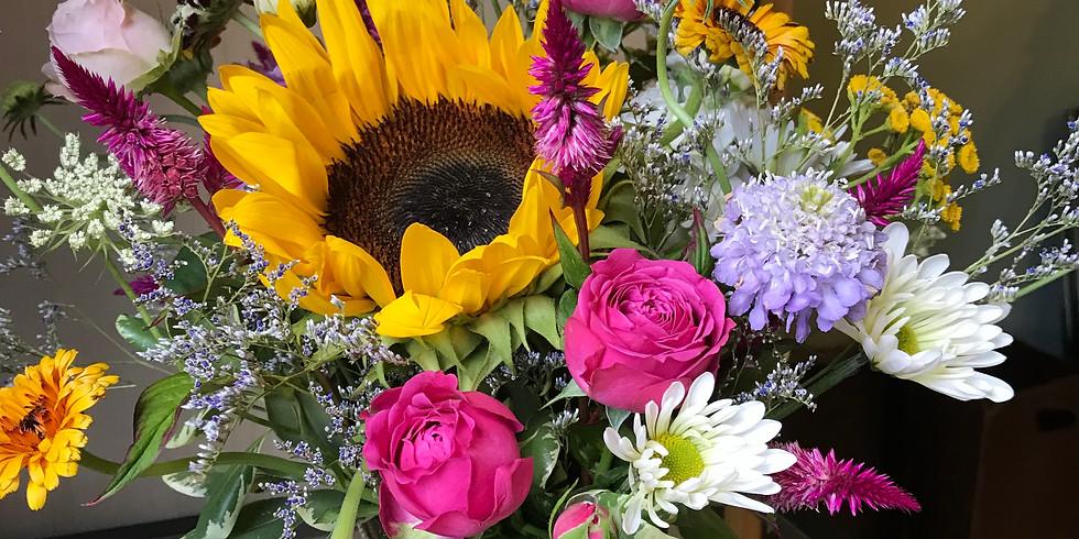 Wine & Floral Design: Summer Garden Blooms