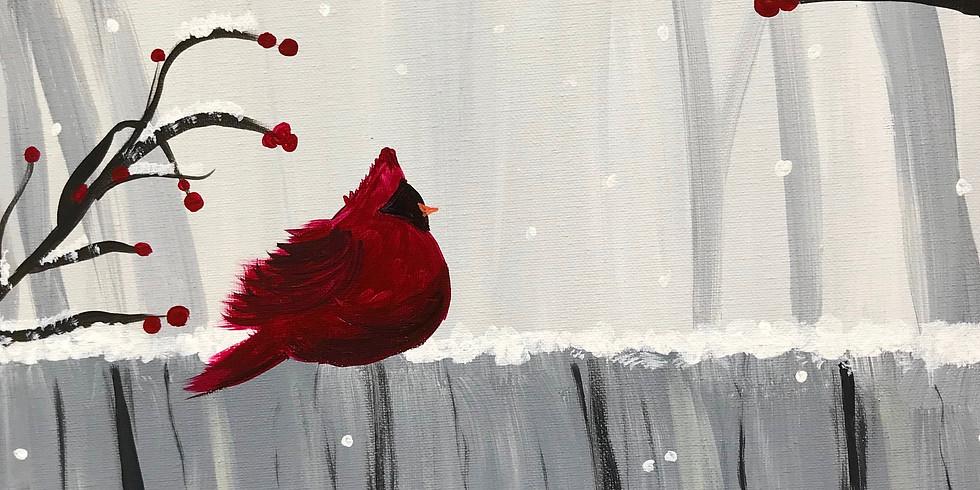 Paint & Sip: Winter Cardinal