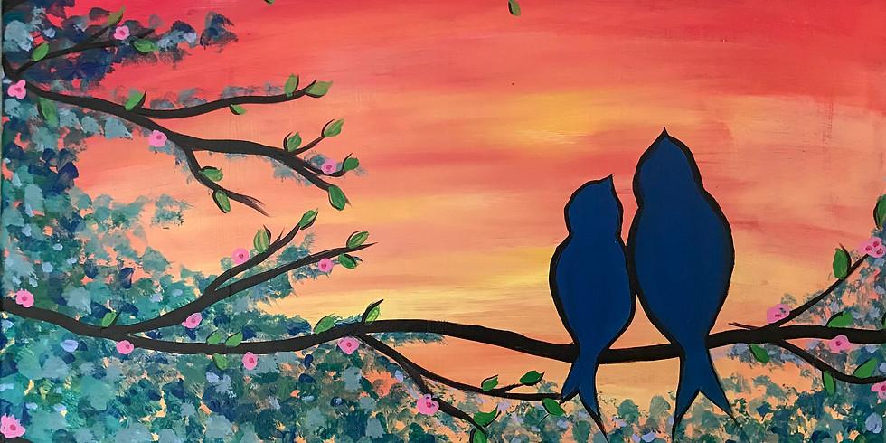 Paint & Sip: Love Birds
