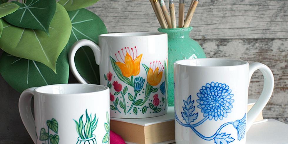 Ceramic Mug Painting Party