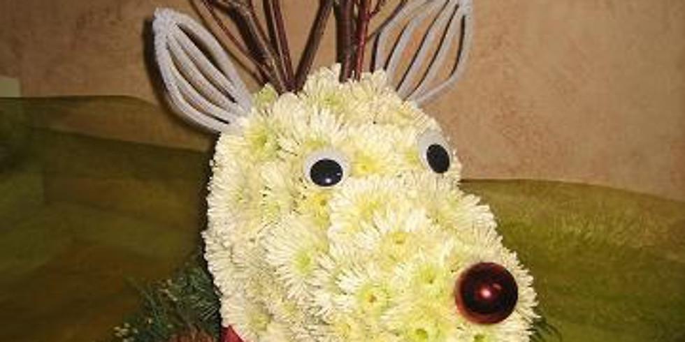 Wine & Floral Design: Rudy the Reindeer