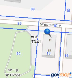 """פרויקט תמ""""א 38 ברח' יום הכיפורים 11 חולון - מפה דוד מימדית"""