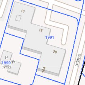 """תמ""""א 38 בחולון רח' פנחס לבון 20-16 מפה דו מימידת"""