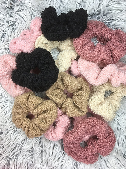 Teddy Bear Scrunchies