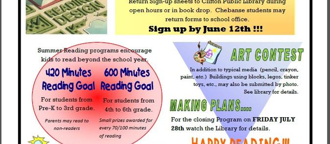 Summer Reading Sign-ups