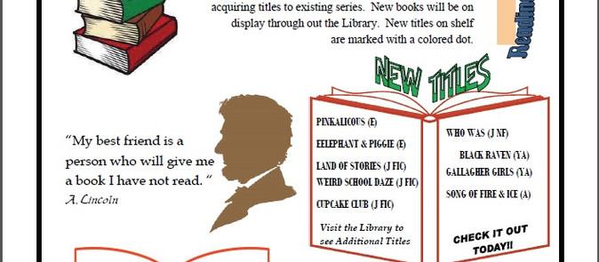 Back to Books Contest & September Newsletter