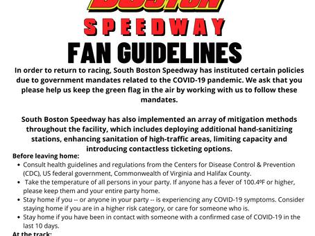 SoBo Back on Track Guidelines