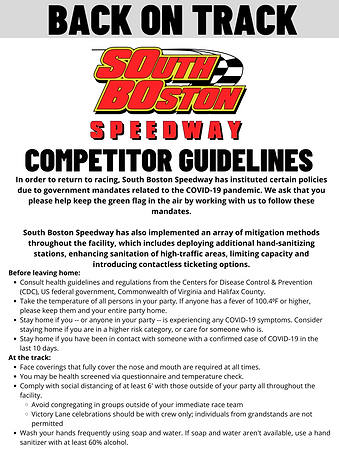 SoBo Back on Track_competitor guidelines