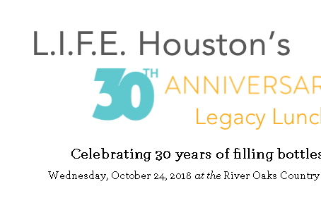 30th Anniversary Legacy Luncheon - Celebrating 30 years of filling bottles