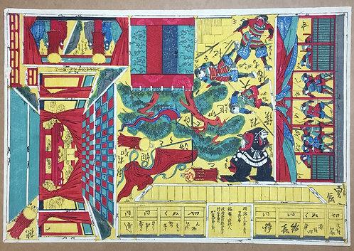 [木版組上]大徳寺(仮題)3枚続