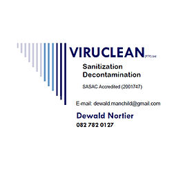 We do sanitization and decontamination in the KZN area. We are SASAC trained and approved and adhere to their strict protocols. We offer competitive pricing and offer hours to suit the needs of your business.  We pride ourselves in being driven to provide great service, and use locally sourced CSIR approved chemicals (effective against Covid-19 as well as most other known viruses and bacteria) to fog and sanitize all sectors including domestic, industrial, retail, health and hospitality.  Let us help you keep your home and business safe, and curb the spread of unwanted infections.