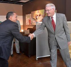 Mayor Luttrell with VP of Walmart