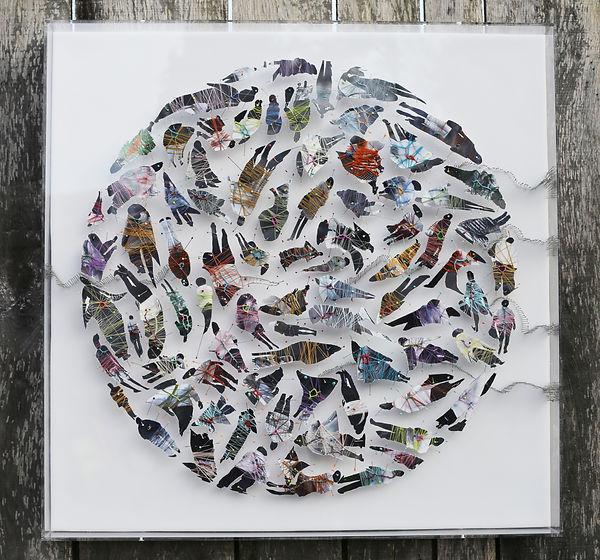 Sapiens 1-80/80cm-2020-papier photo fil épingles